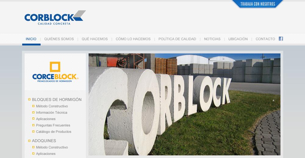 Corblock – Sitio Web