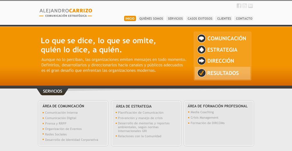 Alejandro Carrizo – Sitio Web