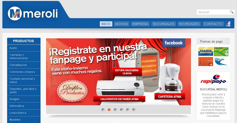 Meroli – Sitio Web