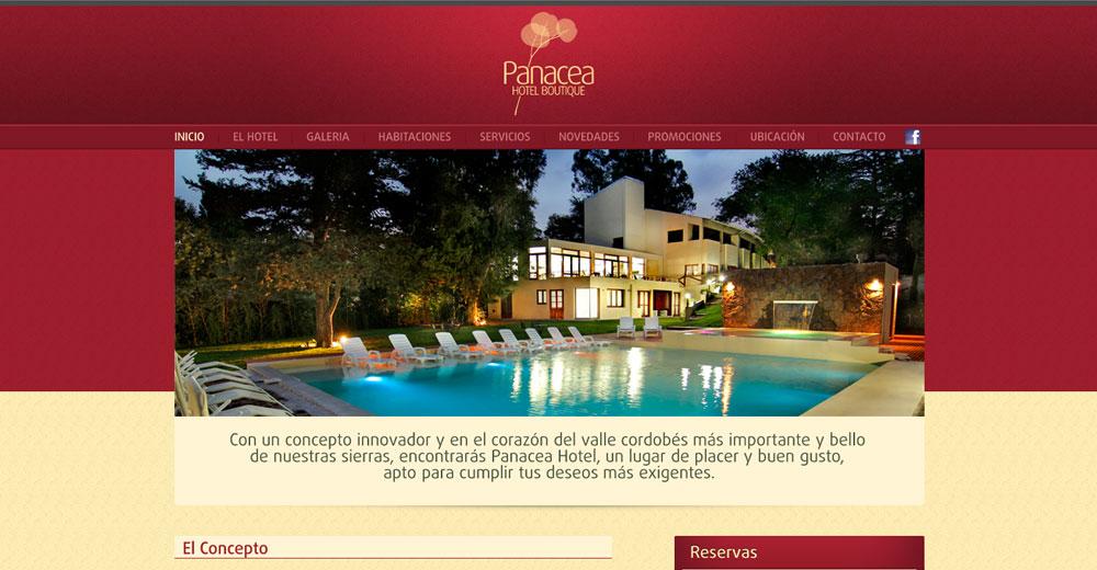 Panacea – Sitio Web