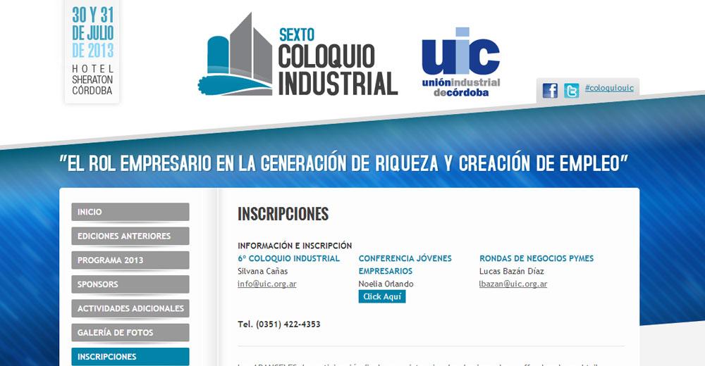 Unión Industrial de Córdoba – Sitio Web